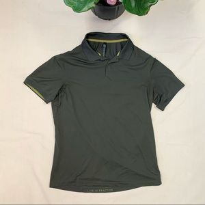 Lululemon Men's Forest Green Athletic Button Shirt